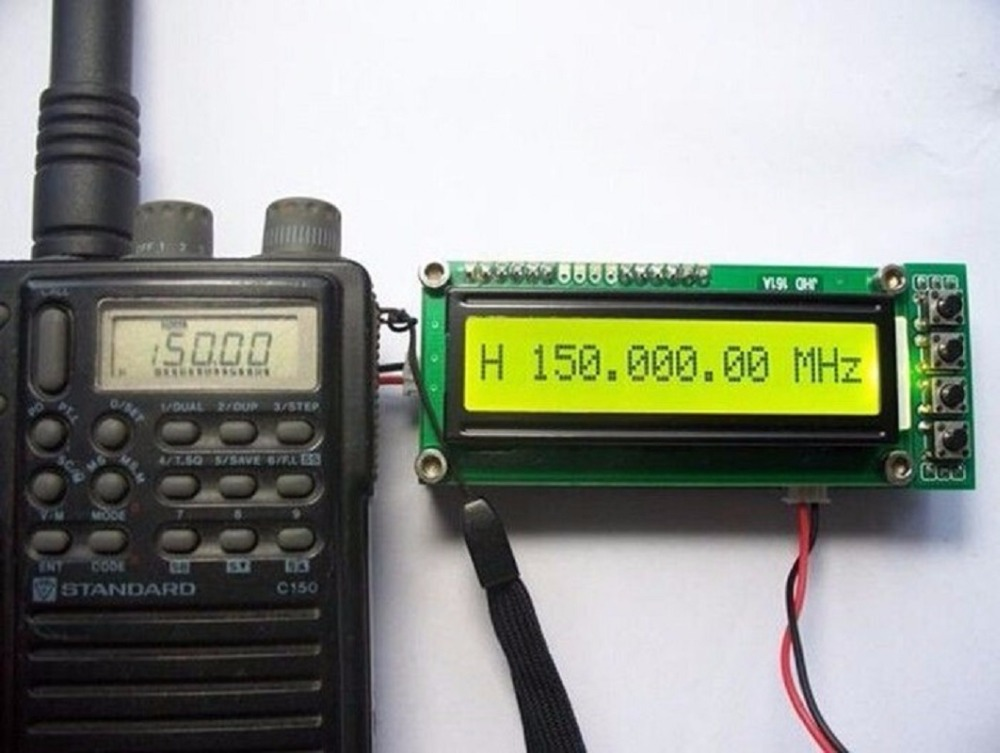 0.1-1100MHz 0.11-1GHz Frequency Counter Tester Measurement For Ham Radio free ship free track number