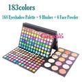 183 Cores de Maquiagem Paleta de 168 Cores Matte & Shimmer Da Paleta Da Sombra + 9 + 6 Blush Pó Facial Maquiagem Kit de Cosméticos conjunto
