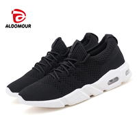ALDOMOUR 2018 Running Shoes Men's Shoes Sport Shoes Relaxed Adult Men Sneakers Breathable Hard Court Lace Up LYT