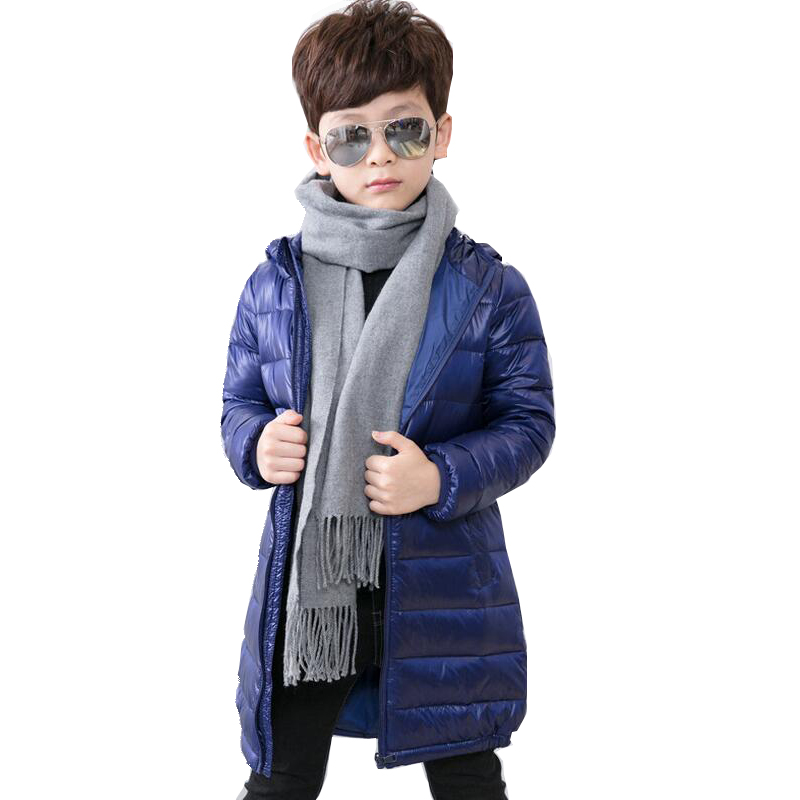 Fashion Slim Children Winter Down Jackets Baby Boy Girls Long Sleeve Coats Warm Down Kids Outerwears for Cold -30 degree Jacket fashion boys down jackets coats for winter warm 2017 baby boy thick duck down coat real fur children outerwears for cold winter