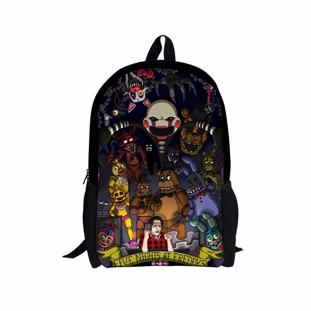 FORUDESIGNS Five Nights At Freddy Children School Bags for Girls Cartoon Teenager Boys Schoolbags Kids Backpacks Mochila Escolar