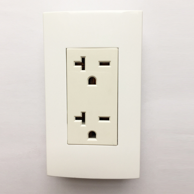 Us Type 118x70mm Electric Power Wall Outlet 20a Electrical Faceplate