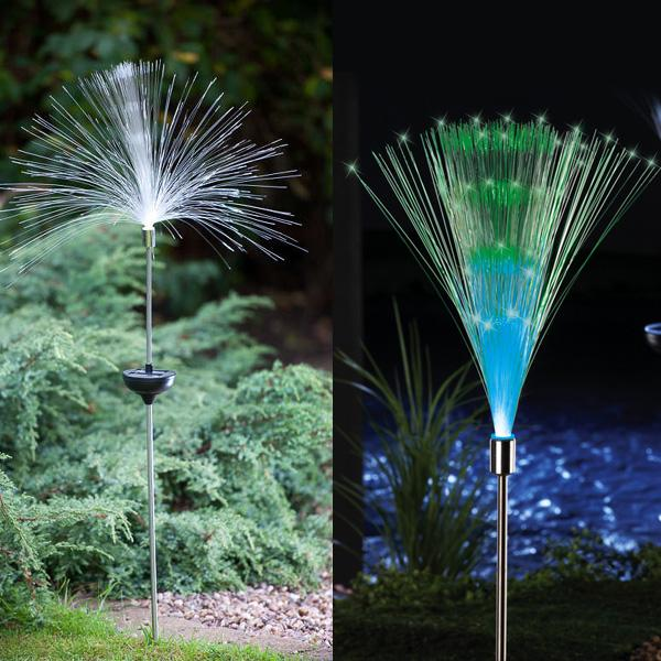 ФОТО Solar Fiber Optic Color Changing Garden Stake Light Nightlight Lamp Bright Glowing Lighting Home Holiday Party Decoration