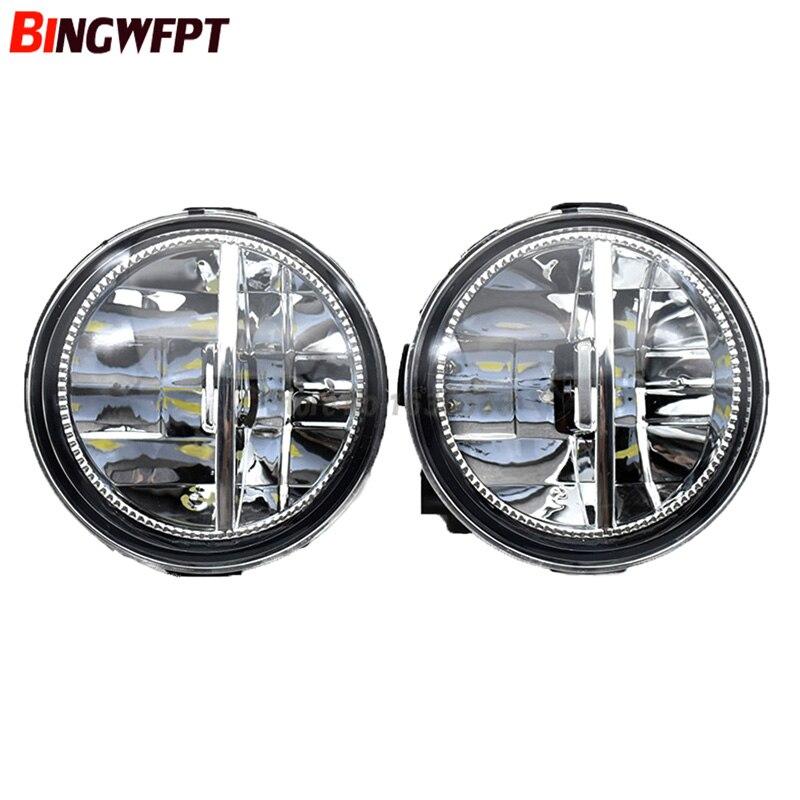 1 SET (Left + right) Car Styling Front LED Fog Lamps Fog Lights 26150 8990B For Nissan Tiida Juke Patrol 3 Y62 2006 2015|Car Light Assembly| |  - title=