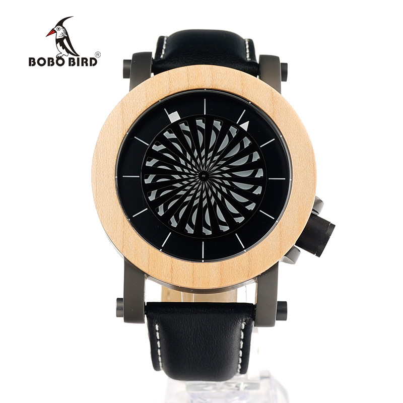 ФОТО BOBO BIRD M07 Mens Mechanical Wristwatches Kinetic Art Skeleton Automatic Self-Wind Watch with Maple Bezel in Gift Wooden Box