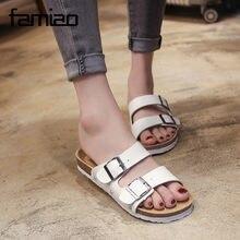 2a001fef4 Novo Estilo Verão 2018 Sapatos Mulher Sandálias de Cortiça Sandália de Boa  Qualidade Chinelos Flip Flop