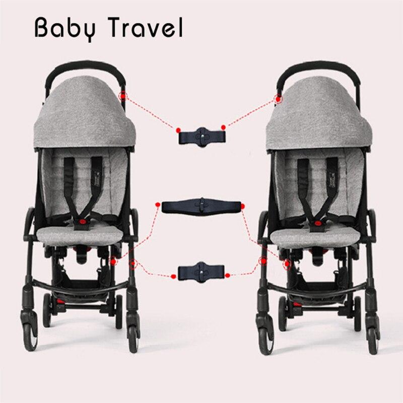 Carrinho de criança Accessoires 3 pcs Acoplador para Babyzen Yoyo Babytime Yoya Adaptador Fazer 2 Carruagens Carrinhos Trono Em Gêmeo Do Bebê Carrinho de Bebé