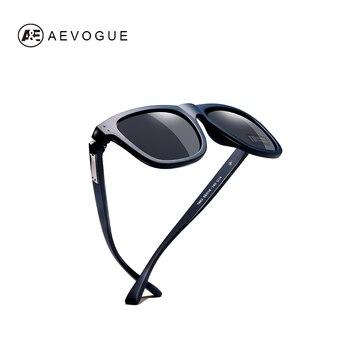 8bea68c7b5 AEVOGUE polarizado gafas De Sol hombres TR90 Unisex Estilo Vintage Polaroid  lente De calidad superior Original Oculos De Sol Masculino AE0614