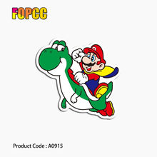 Mario cartoon sticker anime waterproof suitcase box laptop guitar luggage skateboard bicycle toy lovely A0915 stickers(China)
