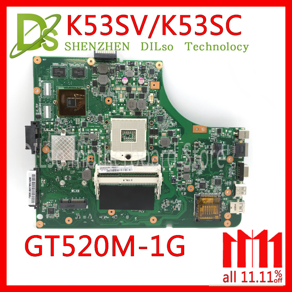 цена на KEFU K53SV Laptop Motherboard K53SV REV 3.0/3.1 Fit For ASUS K53SC A53S X53S P53S K53SJ K53SC Notebook