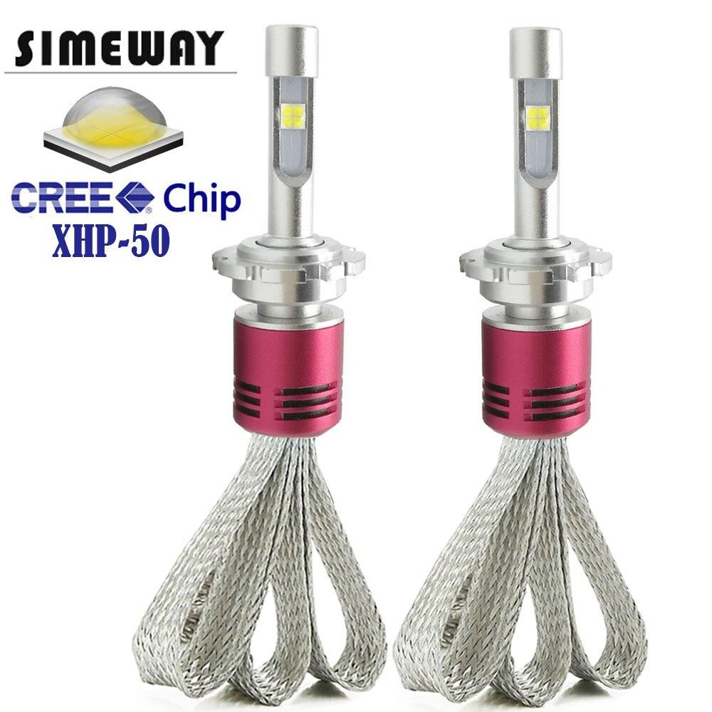 Simeway D2S D2H Led ヘッドライト電球キットスーパー XHP50 チップ led 電球 4300 k 6000 k 52 ワット H4 H7 h11 H8 D2R D3S D4S/R D1S ランプフォグランプ  グループ上の 自動車 &バイク からの 車のヘッドライトの球 (LED) の中 1