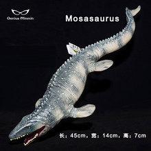 купить Jurassic big Mosasaurus dinosaur soft action toy PVC action figures model Animal collection dinosaur toys for children по цене 424.66 рублей