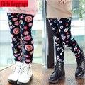 High quality Children Pants Winter Autumn Thick Warm Flower Cartoon Girls Leggings Girls Pants