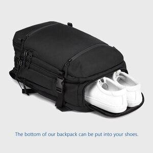 """Image 3 - OZUKO 15 """"17"""" 노트북 배낭을위한 새로운 남성 배낭 발수 다기능 가방 USB 충전 여행 배낭 대형 Mochila"""