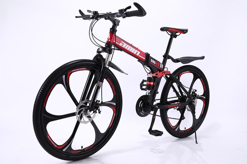 24 26inch folding mountain bike 21 speed double damping 6 knife wheel and 3 knife wheel bicycle double disc brakes mountain bike