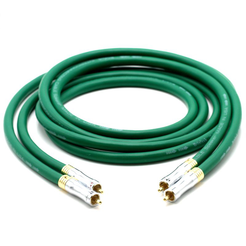 Hifi audio <font><b>MCINTOSH</b></font> <font><b>2328</b></font> audio 7N Copper <font><b>Mcintosh</b></font> RCA Interconnect audio cable with Pailicce gold plated RCA plugs connector image