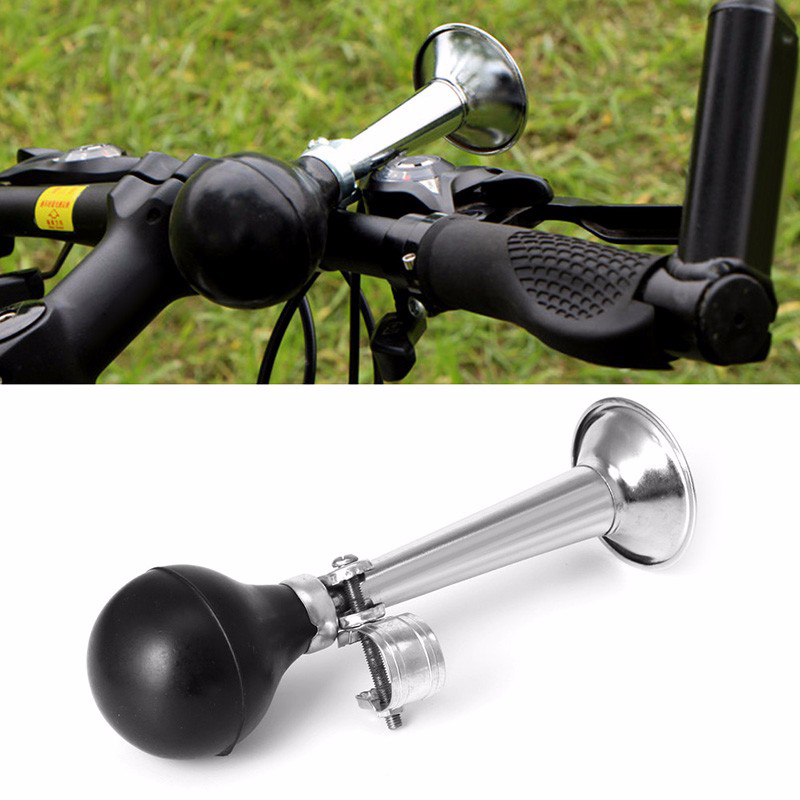 2 X CHOPPER BICYCLE BIKE RETRO METAL AIR HORN HOOTER BELL RUBBER SQUEEZE VINTAGE