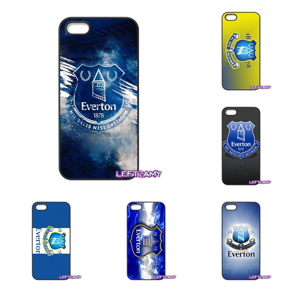Everton FC Logo Hard Phone Case Cover For iPhone 4 4S 5 5C SE 6 6S 7 8 Plus X 4.7 5.5 iPod Touch 4 5 6