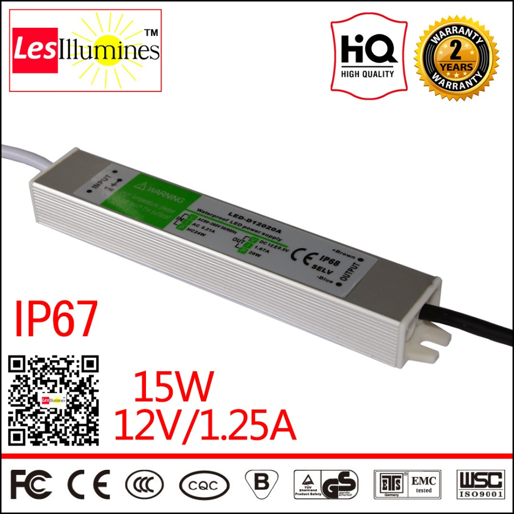 Waterproof AC DC 110V 220V 12V LED Driver Transformer IP67 CE ROHS Approval 12V 1A 15W Switching Power Supply Outdoor Use new 12v 1a 12w ac dc transformer driver for mr16 mr11 gu5 3 led bulbs strips promotion