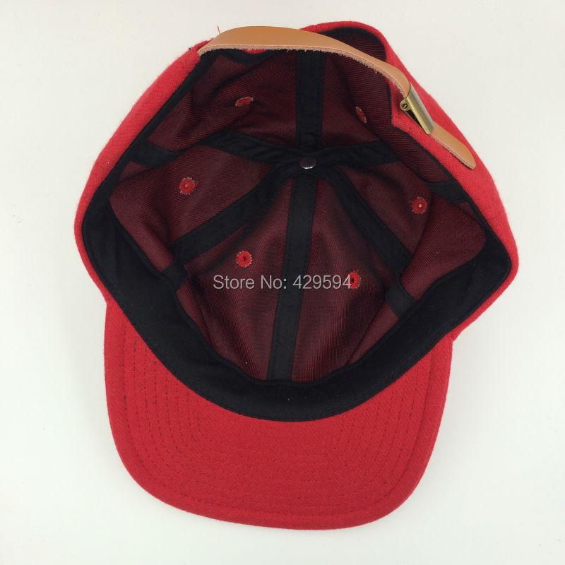 1951533db03176 six panel blank red wool polo hat warm winter hat hip hop baseball cap  custom headwear snapback cap-in Men's Baseball Caps from Apparel  Accessories on ...