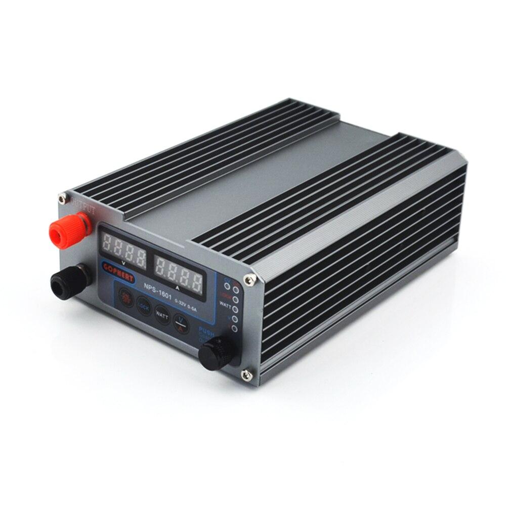 NPS 1601 DC Netzteil einstellbar Digital Mini Labor netzteil 32V 5A Genauigkeit 0,01 V 0,001 EIN WATT mit Schloss Funktion