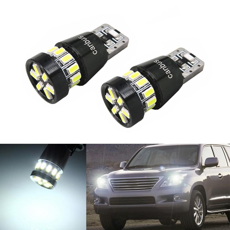 2x T10 W5W Led Car Parking Light For Lexus RX350 RX300 IS250 RX330 LX470 IS200 LX570 GX460 GX ES LX IS IS350 LS460 SC430 GS300