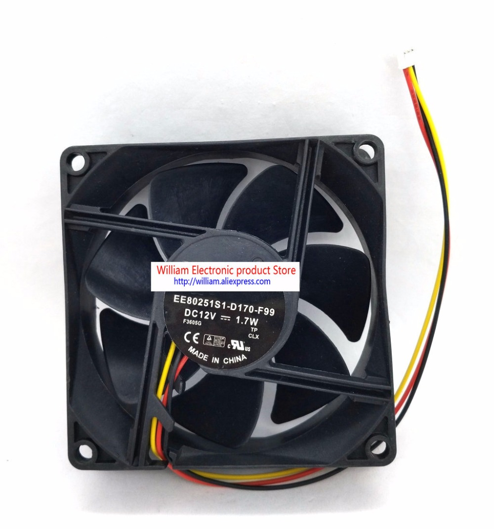 New Original for BENQ EP6127A EE80251S1-D170-F99 12V 1.7W 80x80x25MM projector cooling fan new original bp31 00052a b6025l12d1 three wire projector fan