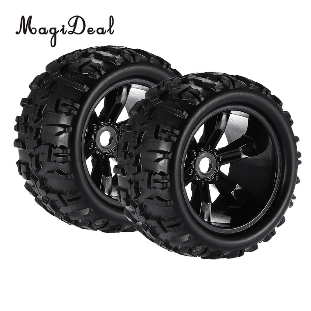 MagiDeal 2Pcs Rubber 1/8 Climbing RC Car Truck Wheels Tires 8477 for HSP Louise TRAXXAS HPI E-MAXX Savage Flux ZD Racing Parts
