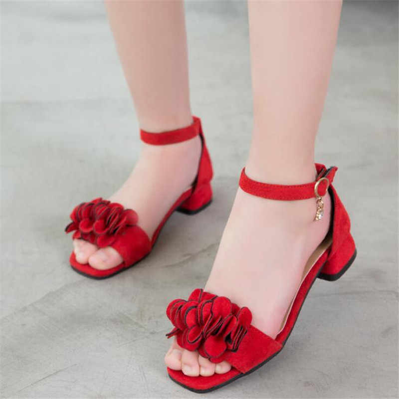 Girls sandals summer new fashion high