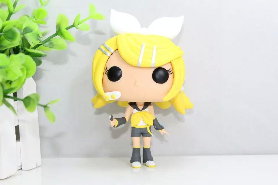 10cm Funko <font><b>pop</b></font> hatsune miku <font><b>Kagamine</b></font> <font><b>Rin</b></font> <font><b>vocaloid</b></font> is hot cute cosplay pvc <font><b>vinyl</b></font> action <font><b>figure</b></font> collection tv 's gifts toys