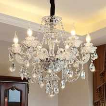 Modern Luxury LED Crystal Chandelier Ceiling Lustre de cristal Crystal ball Pendant Hanging Lamp Home Kitchen Lighting Fixtures(China)