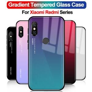 Чехол для xiaomi mi a2 lite, градиентный чехол из закаленного стекла для телефона xiomi xaomi redmi note 4x5 Pro Plus S2 5A 4X6 A ksiomi X4