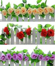 8.2ft Artificial Silk Rose Flower Ivy Vine Leaf Garland Wedding Party Home Decor Christmas indoor outdoor decoration flower vine