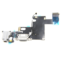 Nieuwe Echte Originele Poort Opladen Dock Connector & Headphone Jack Audio Flex Mic Antenne voor iPhone 6 4.7 Zwart