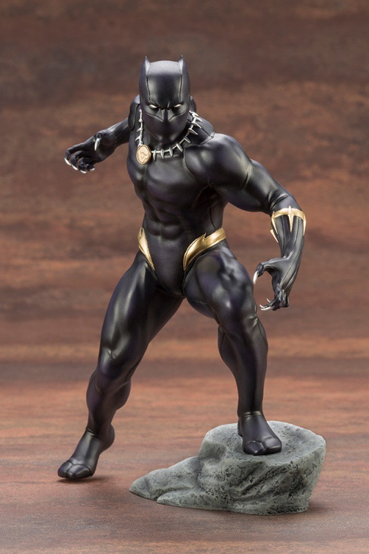 Galleria fotografica New Marvel Super Hero The Avengers Black Panther ARTFX+ Kotobukiya Figure Figurine Toys