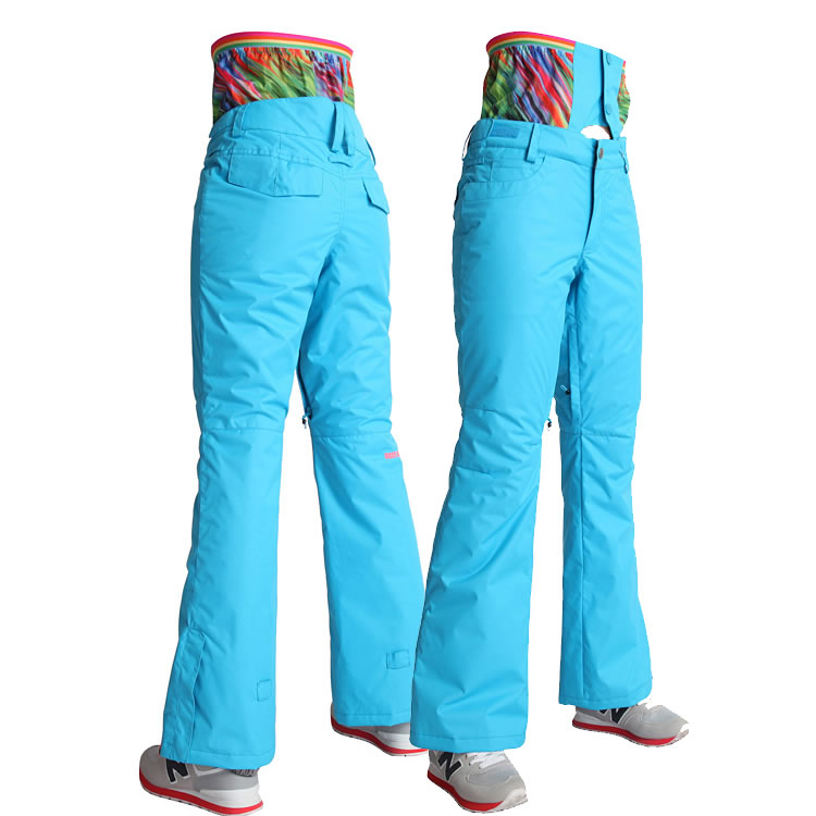 2015 Gsou snow womens ski pants ladies skiing pants high waist snowboarding pants autumn winter warm sports trousers 9 colors