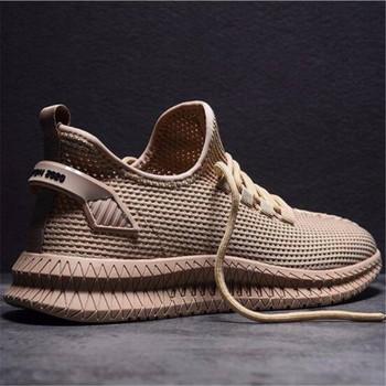 Oeak buty męskie trampki codzienne buty wygodne męskie buty 2020 obuwie oddychające siatkowe sportowe trampki tenis masculino tanie i dobre opinie Mesh (air mesh) Płytkie Stałe Dla dorosłych Wiosna jesień men s sneakers Lace-up Mieszkanie (≤1cm) Pasuje prawda na wymiar weź swój normalny rozmiar