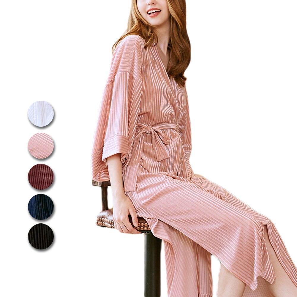 Robe de chambre en velours pour femme