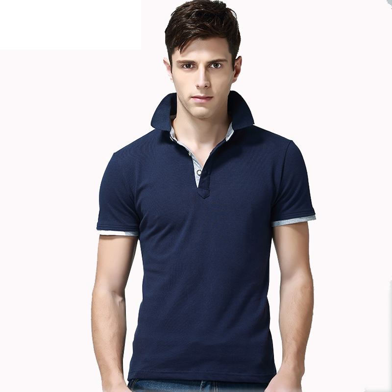 New Summer Men's Short Sleeve   Polo   Shirt Cotton Slim Fit Mens   Polo   Shirts S-XXL Drop Shipping ABZ195