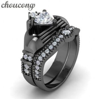 Claddagh Rings women claddagh ring 1ct Diamonique 5A zircon cz