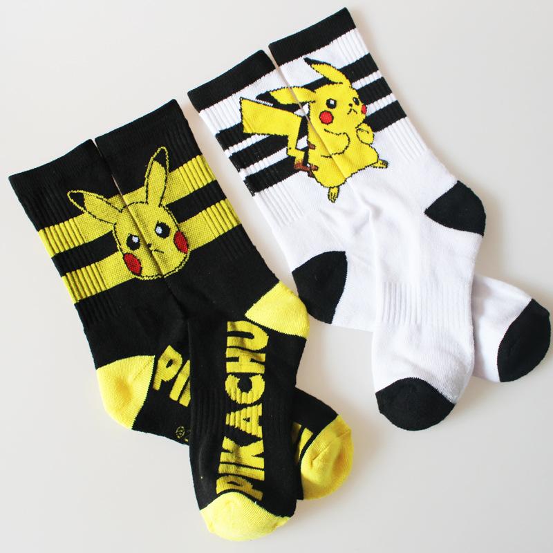 nouvelles femmes de mode dhiver chaussettes kawaii de bande dessine pikachu pokemon tricoter