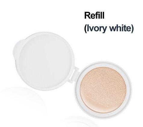 BIOAQUA воздушная Подушка BB крем изоляция BB Обнаженная консилер контроль масла увлажняющая Жидкая Основа CC крем - Цвет: Ivory white refill