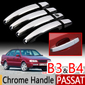 For VW Passat B3 B4 Chrome Handle Covers Trim Set of 4Pcs Volkswagen MK3 MK4 Car Accessories Stickers Car Styling 1988 1990 1993