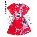 Chegada nova Red Pavão robe pijamas das Mulheres Chinesas Seda Rayon Roupão de Banho Vestido de Um Tamanho Da Flor Frete Grátis