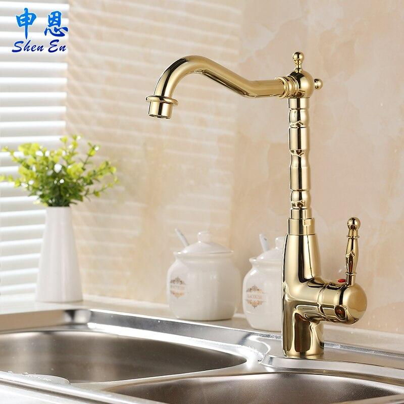 SHLN European gilt leading kitchen sink faucet lavatory faucet