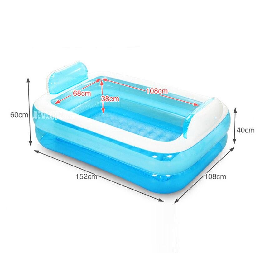 Baignoire gonflable adulte portative de PVC se pliant la baignoire de beauté de l'eau sûre et écologique épaisse Non toxique NA15210860 - 5