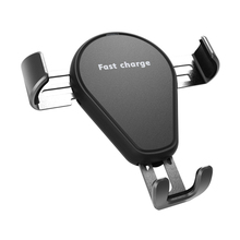 10W Qi fast wireless charger car air outlet mount charge automatic phone holder stand smart quick normal speeds charging mobile kjmy002 s01 smart 10w wireless fast charging car air purifier