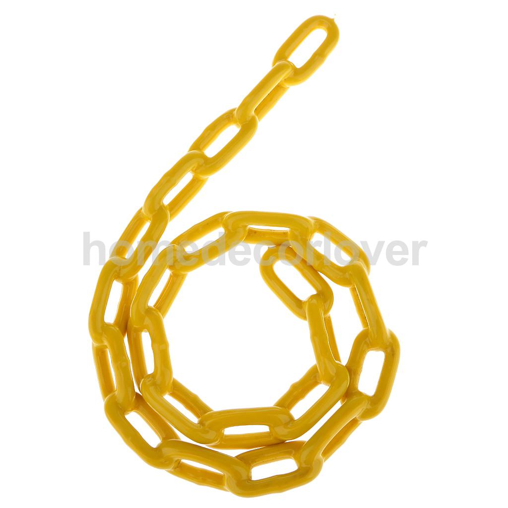 Durable Plastic Coated Iron Swing Link Chain 1.8 M Length Outdoor Toy Accessory Yellow ...