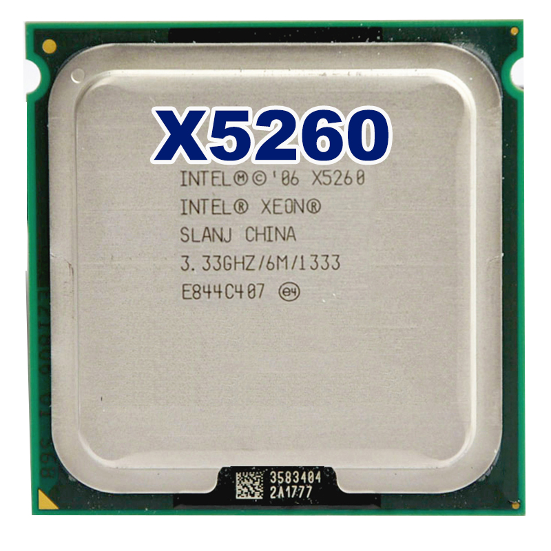 INTEL Xeon 5260 CPU Processor 3.3GHz /6MB L2 /Dual-Core/FSB 1333MHz CPU With Two 771 To 775 Adapters