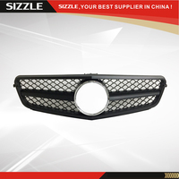 Plastic Flat Black Front Grille Auto Grille For Mercedes W204 2006 2013 SL C63 New Version Style
